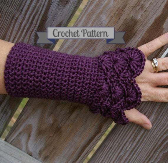 Crochet Pattern Arm Warmers In Peacock Pattern Pdf Etsy