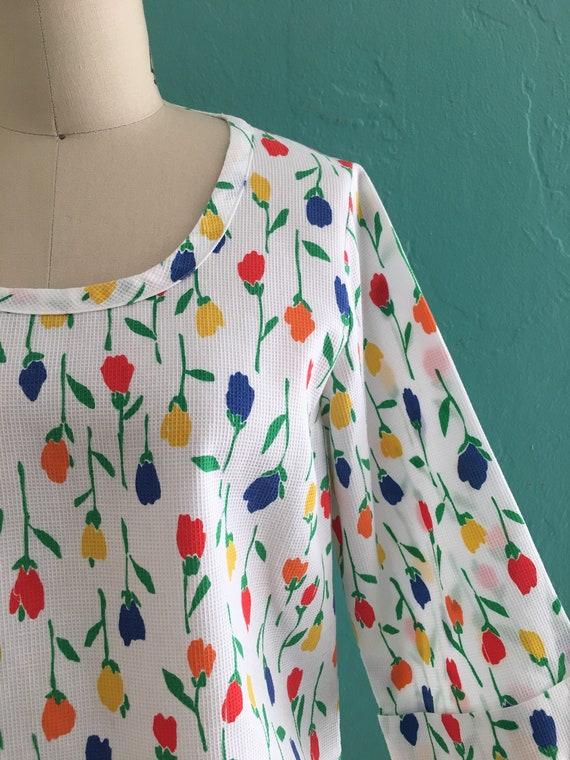 vintage 60's tulip print top // spring floral top - image 6