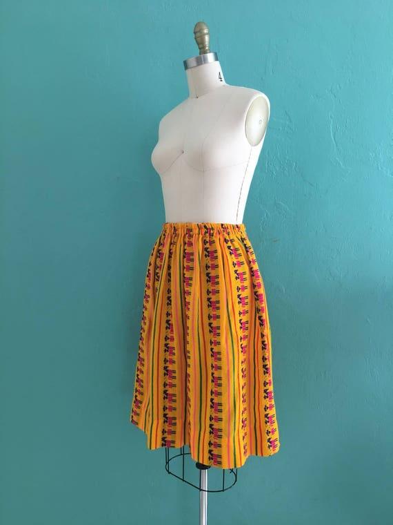 vintage 70's ethnic  cotton skirt // cotton novel… - image 6