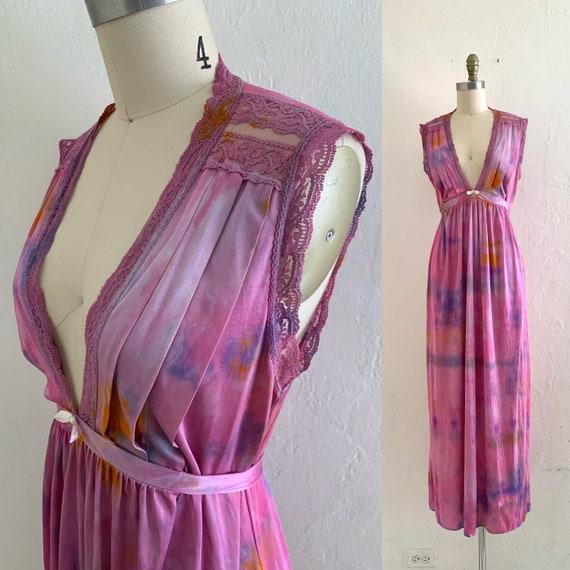 vintage purple tie dye slip dress // tie dye cover