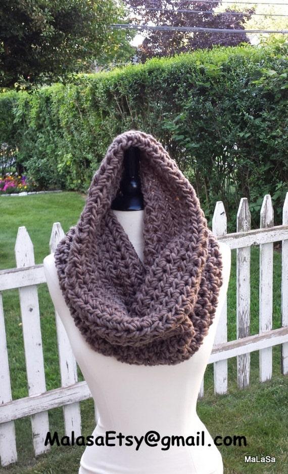 Häkeln Sie KAPUZE klobige Cowl stricken Infinity Schal | Etsy