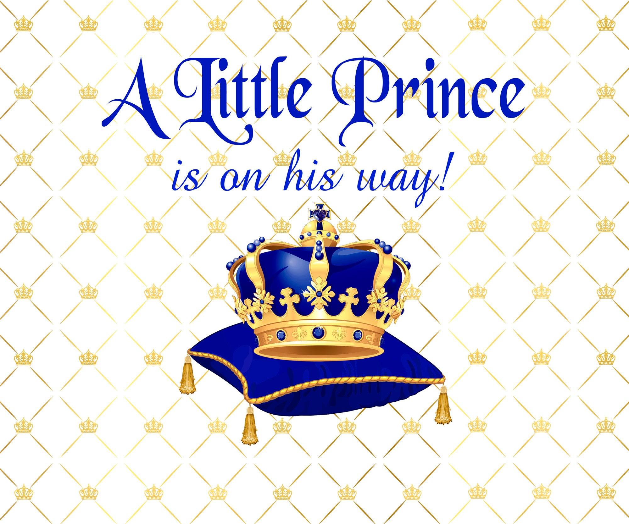 Royal Baby Shower Backdrop Royal Prince Banner Prince Baby