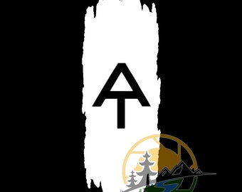 AT Appalachian Trail White Blaze Rugged Vinyl Window Decal