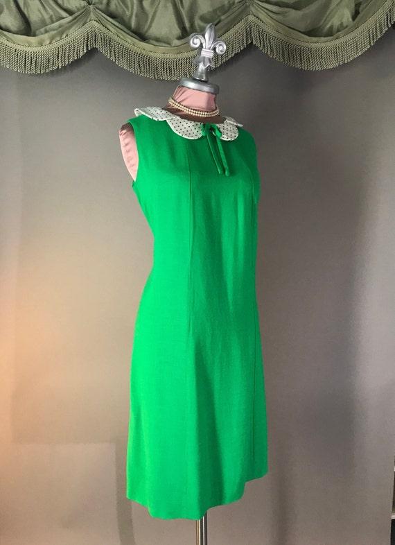 1960s dress vintage 60s vintage GREEN POLKA DOT P… - image 5