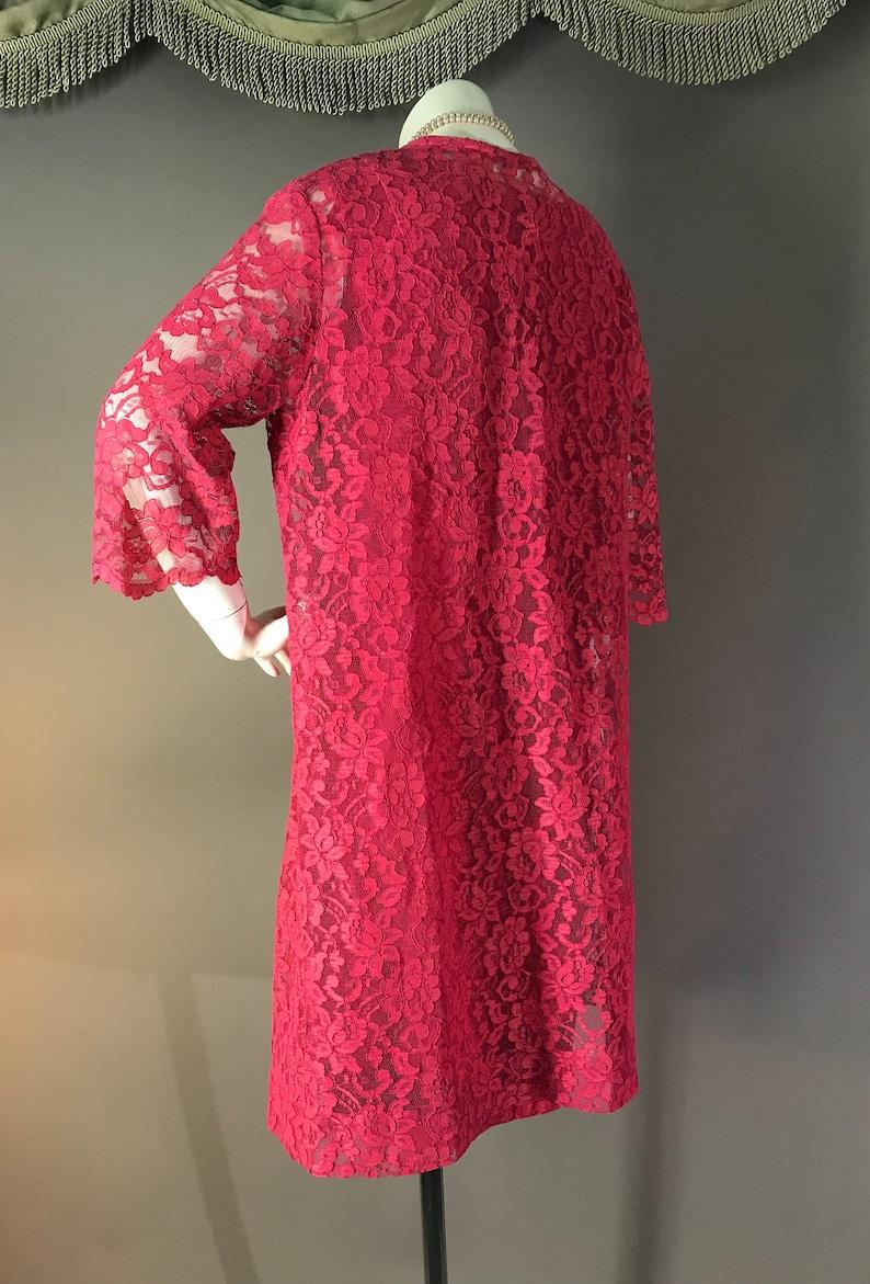 60s suit 1960s vintage ROSE PINK LACE fitted dress 2pc jacket coat party cocktail set