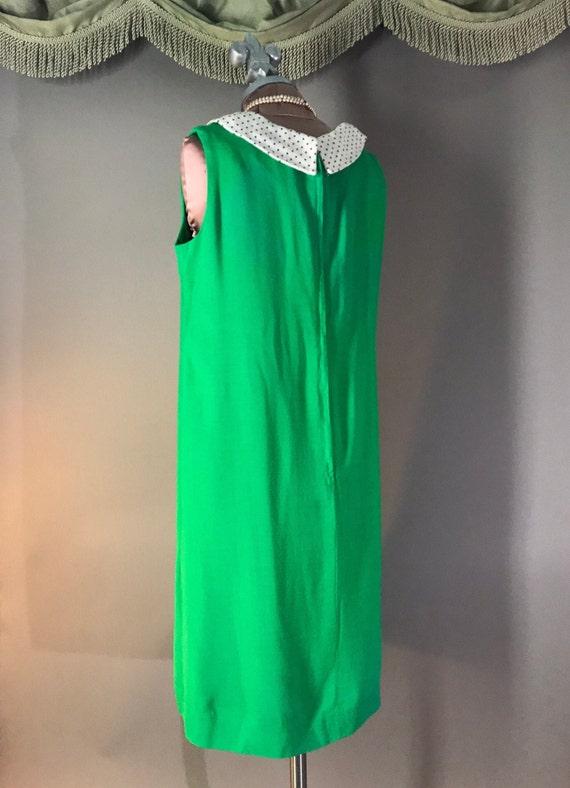 1960s dress vintage 60s vintage GREEN POLKA DOT P… - image 7