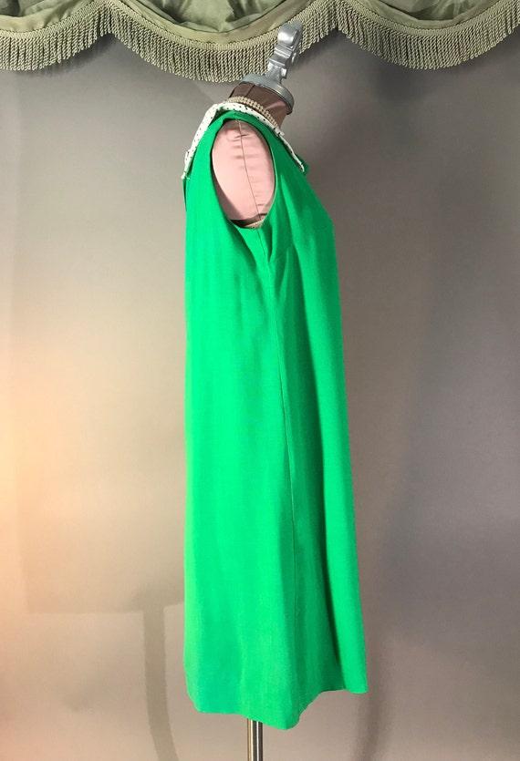 1960s dress vintage 60s vintage GREEN POLKA DOT P… - image 6