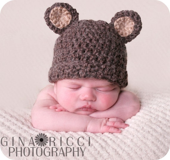 Baby Hat CROCHET PATTERN PDF Bear Beanie Teddy Bear Fuzzy  cf65dff3cd0
