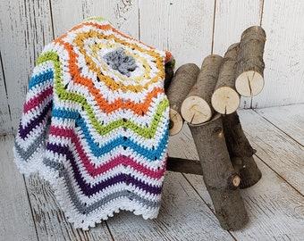 Baby Blanket CROCHET PATTERN Easy NEWBORN Beginner Baby Build A Multicolor Shell