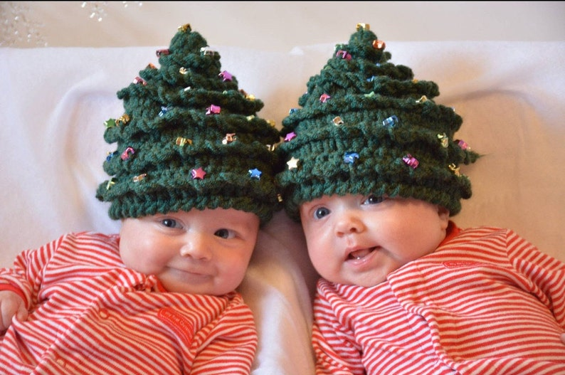 Christmas CROCHET PATTERN HAT Christmas Tree in 5 Sizes 0 image 0