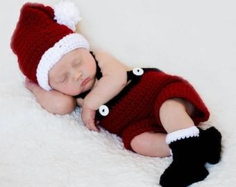 CHRISTMAS Crochet Pattern Santa Set Baby to TODDLER Christmas Photography Prop BOTH Boy and Girl