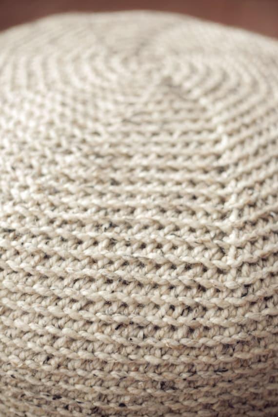 CROCHET PATTERN Knit POUF Pillow Ottoman Cushion Large | Etsy