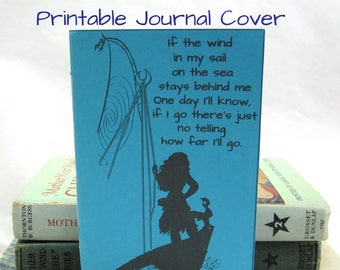 PDF INSTANT DOWNLOAD for Printable Sheet of Polynesian Girl Pocket Journal Covers