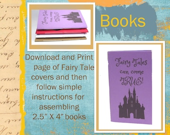 PDF Tutorial for Small Sized Fairy Tale Castle Journal / Notebook with Printable Sheet of Castle Journal Covers  INSTANT DOWNLOAD