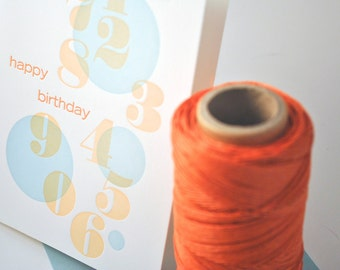Bubble Happy Birthday Letterpress Card