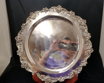 round sterling silver tray