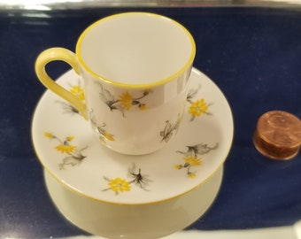 Miniature Shelly cup and saucer
