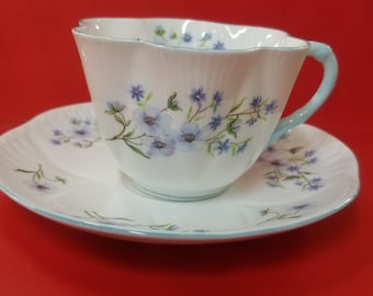 Shelly Blue Rock Cup and saucer