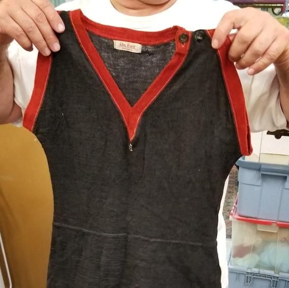 Wool mens bathing suit