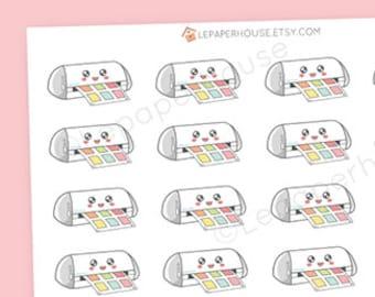 Kawaii Silhouette Stickers - Cut machine stickers, cute planner stickers, Erin Condren stickers, Personal Planners