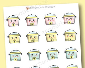 Crock-pot Slow Cooker Stickers - Kawaii Baking / Cooking planner stickers, Erin Condren stickers, Personal Planners