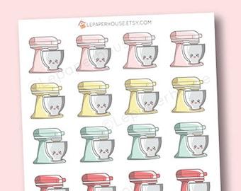 Kitchenaid Mixer Stickers - Kawaii Baking / Cooking planner stickers, Erin Condren stickers, Personal Planners