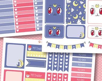 Sailor Moon Add-on Planner Stickers, matte or glossy planner stickers, life planner stickers, erin condren filofax, mambi happy planner