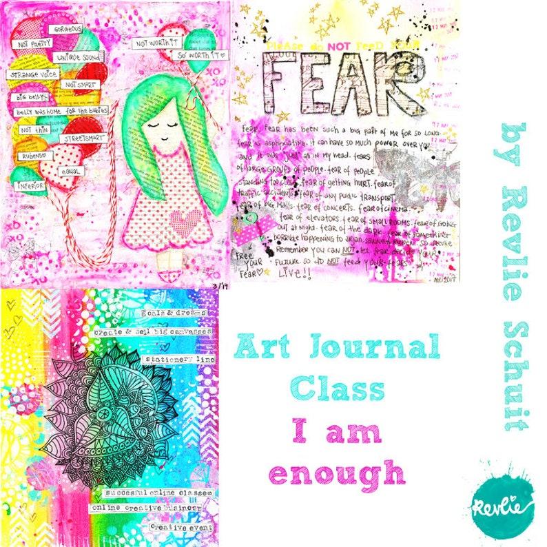 Online Art Journaling Class I Am Enough image 0