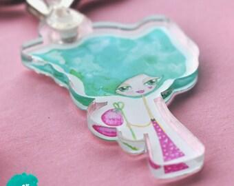 "Keychain / charm ""Cissie"" - cute keychain - cute charm - planner accessoire"