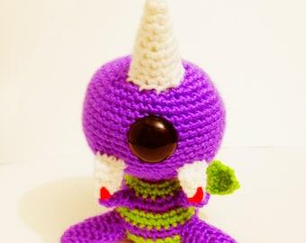 Flying Purple People Eater - Crochet Pattern Instructions