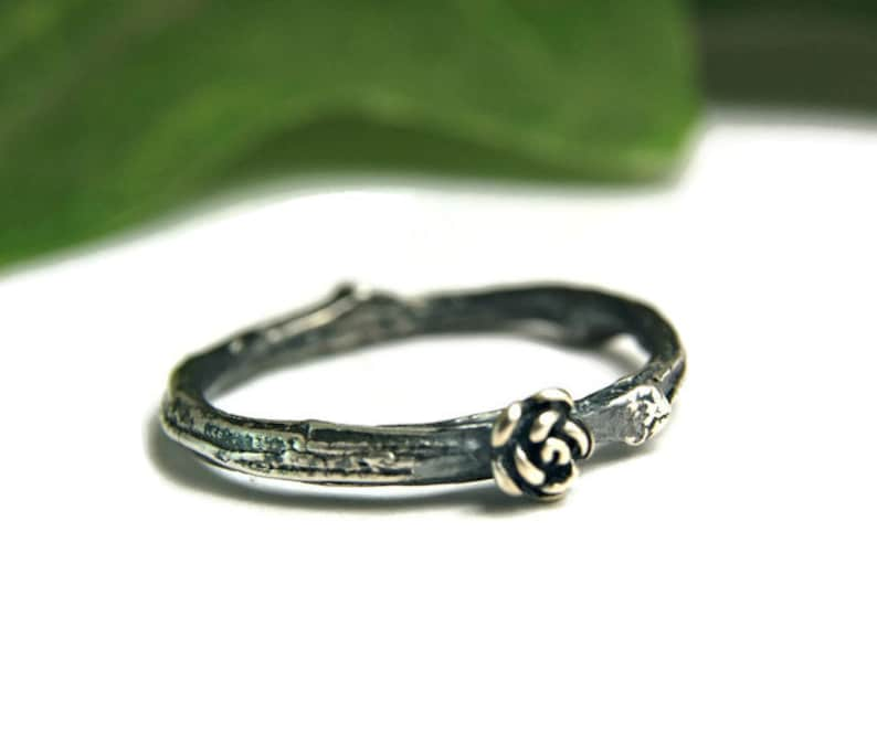 Sterling Silver Twig Wedding Band Silver Branch Ring Silver Band Ring Bridal Jewelry