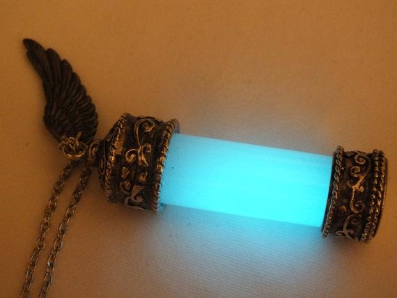 Glow In The Dark Supernatural Angel Grace Necklace Pendant V2 Etsy