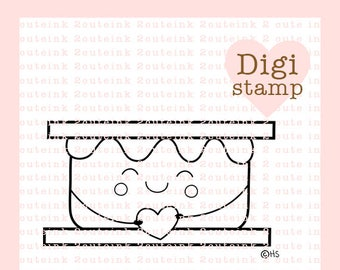 Sweet S'more Digital Stamp - S'more Digital Stamp - Digital S'more Stamp - S'more Art - Fall Card Supply - Fall Craft Supply
