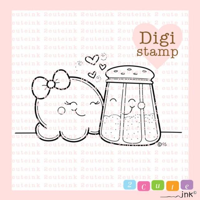 Dulce y salado palomitas de maíz ama sal sello Digital día   Etsy