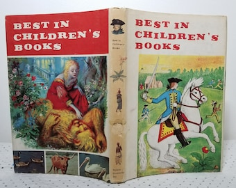 Vintage Best in Children's Books 18 (c) 1959 Nelson Doubleday HC DJ 1st First Ed. Beauty and the Beast, Fables, Raggedy Ann, Be a Magician