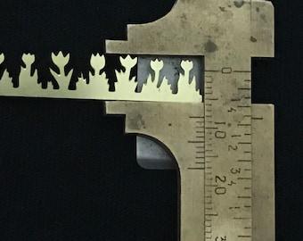 1 pc Brass FlowerBezel prototype IX