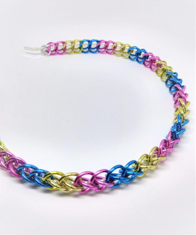 Half Persian in Sexuality Colors or Custom Colors Chainmaille Headbands