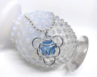 CUSTOM COLORS - Isotope Swarovski Crystal Pendant -  You Choose the Crystal and Ring Colors