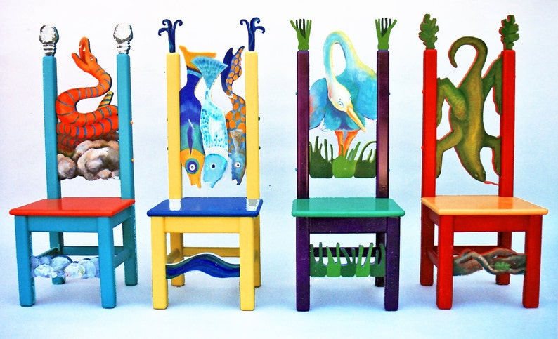 Kid's Furniture Whimsical Children's Table & 4 Chair image 0