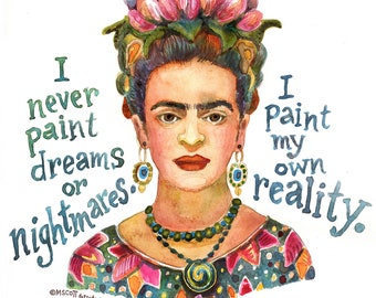 More Famous Women Portraits - Inspirational and Creative Quotes - Signed Print of my Original Watercolor Painting - Choose 1 of the 10