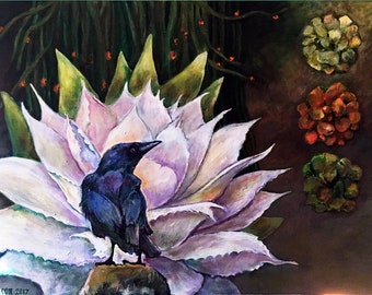 Fine Art Painting - Raven Choice - Acrylic on Canvas