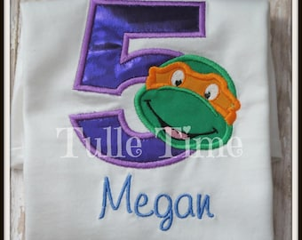 Personalized Turtle number birthday shirt 1st 2nd 3rd 4th 5th All sizes