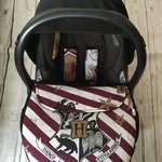 LIMITED EDITION Hogwarts Harry Potter baby car seat apron harness straps universal fit handmade stay on blanket hogwarts fitted