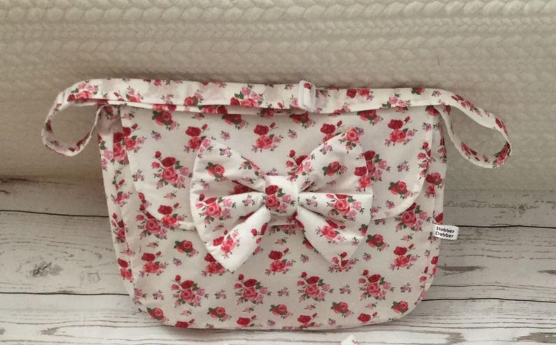 pram baby changing bag diapers nappies floral rosebud image 0
