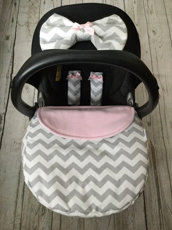 14 Chevrons to choose from MONOGRAMMED CHEVRON CARSEAT CANOPY