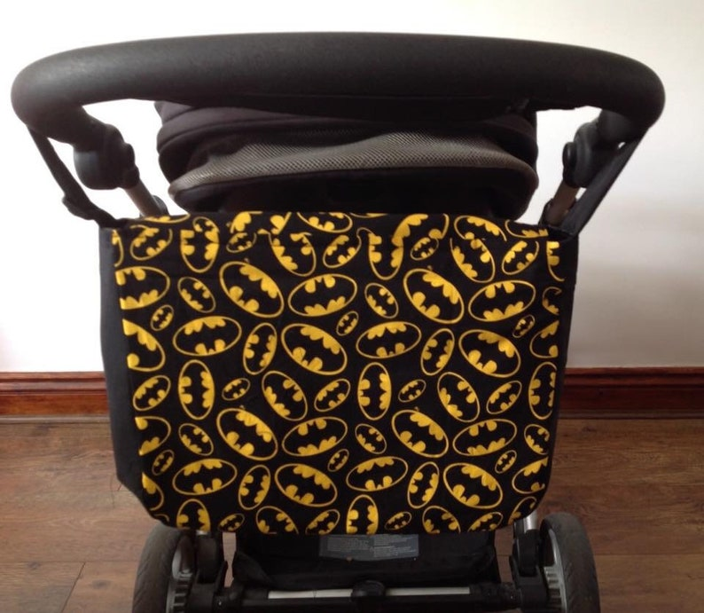 batman black drill cotton pram baby changing bag diapers image 0