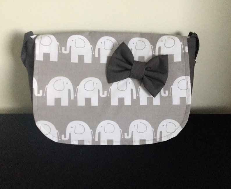 pram baby changing bag diapers nappies elephants print cotton image 0