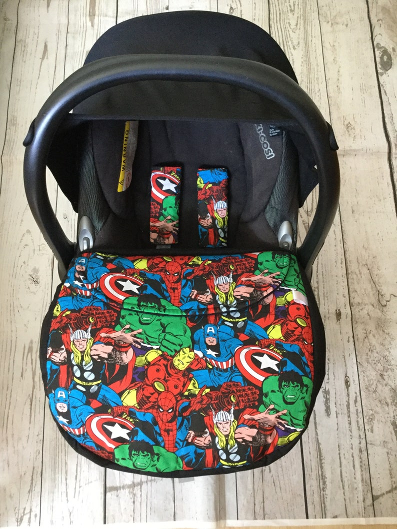 universal baby car seat apron/footmuff harness covers image 0