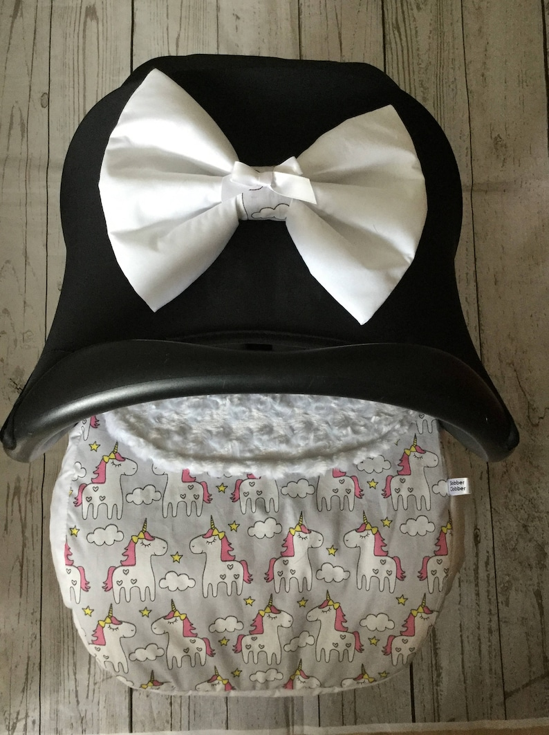 baby car seat apron harness strap covers detachable bow image 0