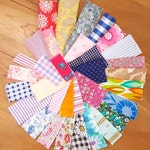 vintage and new cotton scrap fabric bundle for crafts